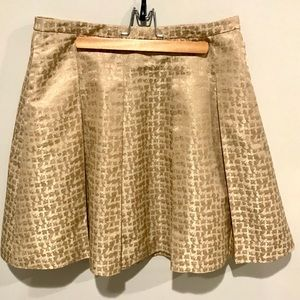 NWT -- J. Crew Tan A-line Skirt, Size 6